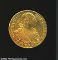 Colombia: , Colombia: Carlos IIII Gold 8 Escudos 1799P-JF, KM62.2, XF-AU, thereverse is particularly lustrous.. Ex: Kreisberg June 28, 1965,lo...