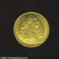 Colombia: , Colombia: Ferdinand VII Gold 8 Escudos 1814/3NR-JF, KM66.1,incredibly bold overdate! Superb AU-UNC, fully struck and withfabulous lu...