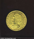 Colombia: , Colombia: Republic Gold 8 Escudos 1833RS, KM82.1, AU, old scrape on the chin. ...