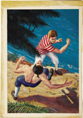 "Original Comic Art:Covers, Mort Kunstler - Classics Illustrated #109 ""Pitcairn's Island""Painted Cover Original Art (Gilberton, 1953)...."