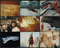 """Superman the Movie (Warner Brothers, 1978). Italian Color Stills (10) (8"""" X 10""""). Action.... (Total: 10 Items)"""