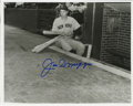 """Autographs:Photos, Joe DiMaggio Signed Photograph. Unique 8x10"""" black and whiteportrait of the legend Joe DiMaggio is made available here, co..."""