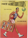 Basketball Collectibles:Programs, 1950-51 Harlem Globetrotters Official Souvenir Program. Tremendousofficial program which chronicles the exploits of the le...