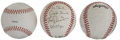 Autographs:Baseballs, Los Angeles Dodgers Signed Baseballs Lot of 3. A single signedbaseball from Dodger greats Don Sutton and Tommy Lasorda (pe...(Total: 3 )