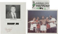 Boxing Collectibles:Autographs, Muhammad Ali Signatures Lot of 2 with Photograph. A cut signature from the man known as the Greatest is joined here by a si...