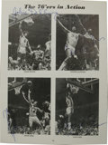 Basketball Collectibles:Others, Signed Basketball Pieces Lot of 9. Each of the nine pieces that weoffer here, which include photographs, letters, magazine...