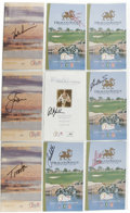 Golf Collectibles:Autographs, PGA Pros Signed Golf Programs Lot of 9. This group on nine signedprograms offers signatures of several PGA pros, including...