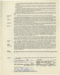 Autographs:Others, 1966 Rene Lachemann Signed Player's Contract. 1966 contract securing the services of Rene Lachemann for the Kansas City Ath...