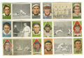 Baseball Cards:Lots, 1912 T202 Hassan Triple Folders Group Lot of 6. Includes Dooin Gets His Man (Dooin, Doolan), Fast Work At Third (Cobb, O'Lea...