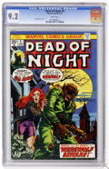 Bronze Age (1970-1979):Horror, Dead of Night #4 (Marvel, 1974) CGC NM- 9.2 White pages....
