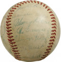 Autographs:Baseballs, 1959 St. Louis Cardinals Team Signed Baseball. Solly Hemus took thereigns of the St. Louis Cardinals as skipper for the 19...