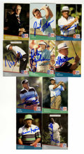 Golf Collectibles:Autographs, Golf Stars Signed Pro Set Cards Group Lot of 125. Well over 100cards from Pro Set's 1991 issue are offer here, with each o...