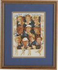 Golf Collectibles:Autographs, Women Hall of Fame Golfers Signed Art. Charming piece seen herefocuses on the female pioneers of the game of golf, complet...