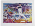 "Baseball Collectibles:Others, Ted Williams Print Signed by LeRoy Nieman. Painted exclusively forthe ""Friends of the Hall of Fame,"" the fan club of Coope..."