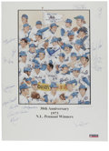 Baseball Collectibles:Others, 1973 New York Mets Reunion Signed Poster. In just his second seasonat the helm of the New York Mets, Hall of Fame backstop...