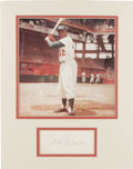 Autographs:Index Cards, Jackie Robinson Signed Index Card Display. Impressive signature appears on an index card courtesy of Jackie Robinson, the m...