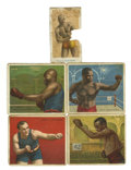 Boxing Cards:General, Boxing and Other Sports Group Lot of 40. Group includes AmericanCaramel boxing group affixed to page - Tommy Burns, Joe Gan...