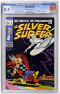 Silver Age (1956-1969):Superhero, The Silver Surfer #4 (Marvel, 1969) CGC VF+ 8.5 Off-white to white pages....