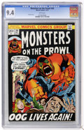 Bronze Age (1970-1979):Horror, Monsters on the Prowl #20 (Marvel, 1972) CGC NM 9.4 White pages....