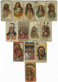 Miscellaneous Collectibles:General, Allen & Ginter American Indian Chiefs (N2) and Others Group Lotof 13. Includes Agate Arrow Point, Big Snake, John Yellow Fl...