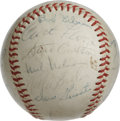 Autographs:Baseballs, 1969 St. Louis Cardinals Team Signed Baseball. Hall of Fame skipperRed Schoendienst had the privilege of managing an excep...