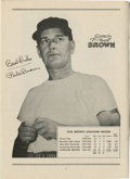 Football Collectibles:Others, 1958 Paul Brown Signed Program. Preserved in fantastic condition, this early-season program for a clash between the Clevela...