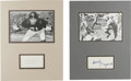 Football Collectibles:Others, Pro Football Hall of Famers Signed Display Lot of 4. Each of the four pieces that we make available here provides an excell...