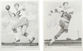 """Football Collectibles:Others, Bob Lilly and Roger Staubach Signed Photographs Lot of 2. Each of the team issued 5x7"""" black and white photos has been sign... (Total: 3 )"""