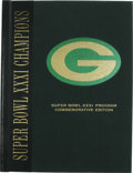 Football Collectibles:Others, Desmond Howard Signed Super Bowl XXXI Commemorative Edition Program. Special hardcover commemorative edition Super Bowl pro...