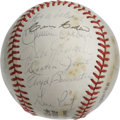 Autographs:Baseballs, 1978 Houston Astros Team Signed Baseball. Despite the scatteredareas of foxing that affect the ONL (Feeney) orb that we se...