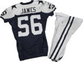 Baseball Collectibles:Hats, 2006 Bradie James Game Worn Jersey with Pants. Reebok navy bluemesh throwback gamer with navy blue stars on the shoulders,...