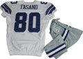 Football Collectibles:Uniforms, 2006 Anthony Fasano Game Worn Jersey with Pants. High-quality jersey from the 2006 season was worn by Dallas Cowboys rooki...
