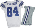 Football Collectibles:Uniforms, 2006 Patrick Crayton Game Worn Jersey with Pants. High-quality jersey from the 2006 season was worn by Dallas Cowboys wide...