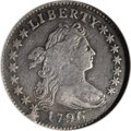 Early Dimes: , 1796 10C --Plugged, Scratched, Whizzed--ANACS. VF20 Details. JR-1,R.3. Plugged near the bust tip, and opposite on the field...