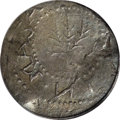 1652 6PENCE Oak Tree Sixpence XF45 PCGS. Crosby 1b-D, Noe-22, R.5. Similar to Noe-21, but the first S in MASATHVSETS has...