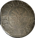 Colonials: , 1652 SHILNG Oak Tree Shilling XF40 NGC. Crosby 9-H, Noe-1, R.3. IN at left. 70.2 grains. Gunme...