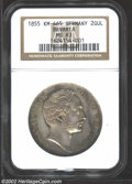 German States:Bavaria, German States: Bavaria. Maximilian II 2 Gulden 1855, KM465,Restoration of the Madonna Column in Munich. MS63 NGC. Anattractive coin with ...