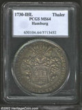 German States:Hamburg, German States: Hamburg. Karl VI Thaler 1730IHL, 200th Anniversary of the Augsburg Confession, KM170, Dav.2282, MS64 PCGS, a glossy golden-s...