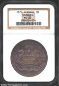 German States:Hamburg, German States: Hamburg. 5 Mark 1876J, KM287, MS63 NGC, toned and very attractive, a rarely seen type in top condition....