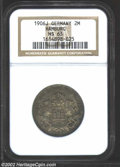 German States:Hamburg, German States: Hamburg. 2 Mark 1906J, KM294, MS63 NGC. Toned and attractive. ...