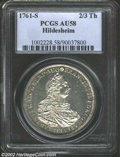 German States:Hildesheim, German States: Hildesheim. Frances I 2/3 Thaler 1761S, KM100, AU58 PCGS. An elusive issue, especially in this grade and exceptional quality...