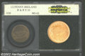 Ireland: , Ireland: Republic 1/2 Penny 1939, KM10, MS63 Red and Brown PCI, tinges of faded red color are seen here and there on each side. Quite...