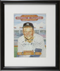 Baseball Collectibles:Others, Mickey Mantle Signed Photoprint. From the art of the esteemed folksat the Perez-Steele Galleries we present this fine prin...