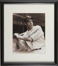Autographs:Photos, Joe DiMaggio Signed Photograph. With a boyish face that belies histenacity with the baseball bat, Joe DiMaggio here is the...