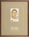 """Autographs:Letters, Eddie Collins Cut Signature Display. Earning the nickname """"Cocky""""more on the merit of his sheer ability than any sort of a..."""