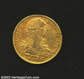 Mexico: , Mexico: Carlos III Gold 8 Escudos 1779-FF, KM156.2a, Nice VF-EFwith lustre in the peripheral legends. One very light scratch inthe...