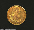 Mexico: , Mexico: Carlos IV Gold 8 Escudos 1793-FM, KM159, Lustrous EF-AUwith a good strike and no defects. ...