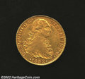 Mexico: , Mexico: Carlos IV Gold 8 Escudos 1802-FT, KM159, EF, slightly softstrike on the King's shoulder but with bold details andnoticeabl...