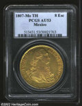 Mexico: , Mexico: Carlos IV Gold 8 Escudos 1807Mo-TH, KM159, AU53 PCGS, welldetailed for the issue, with few appreciable contact marks. Asol...