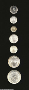 Mexico: , Mexico: Premium Early Type Coins: 5 Centavos 1914, 10 Centavos 1907and 1928, 20 Centavos 1906 and 1921, 50 Centavos 1912 and Peso 1...(Total: 7 coins Item)